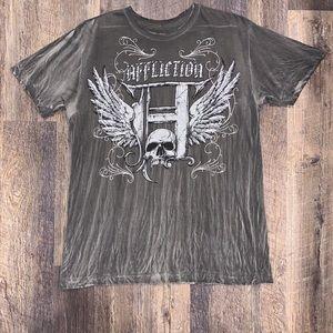 Men's Grey Affliction T-Shirt